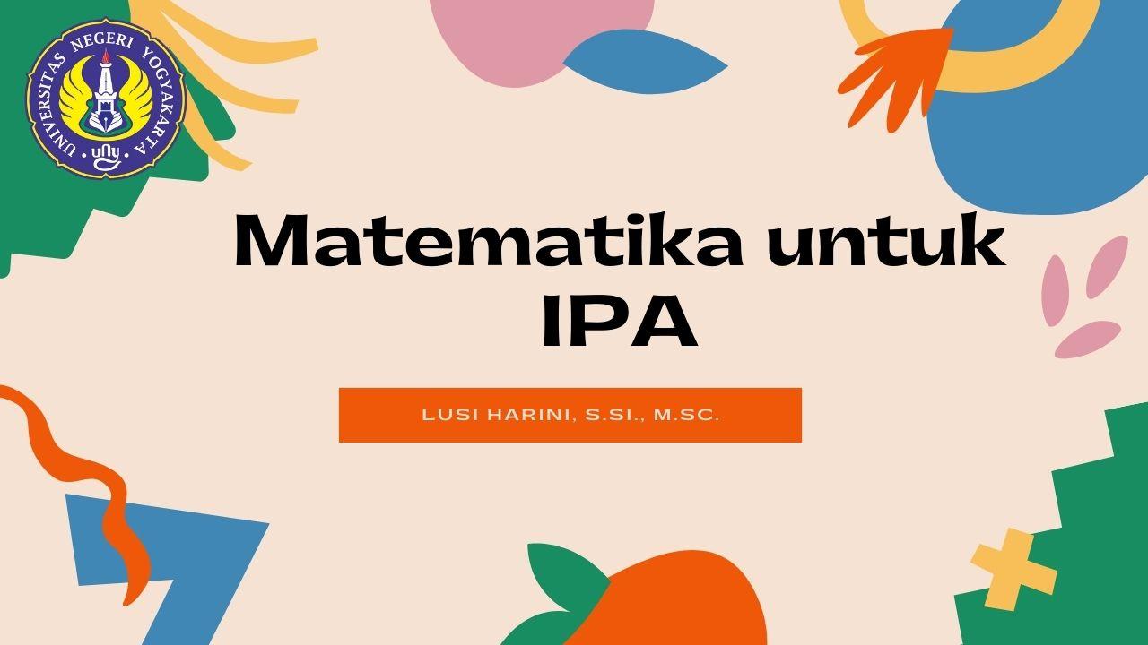 Matematika Untuk IPA
