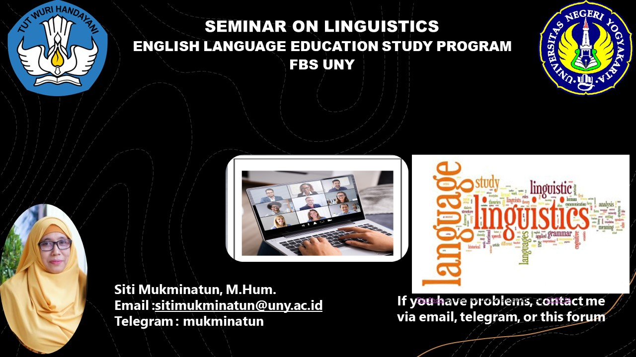Seminar on Linguistics 2021_Siti Mukminatun, M.Hum.
