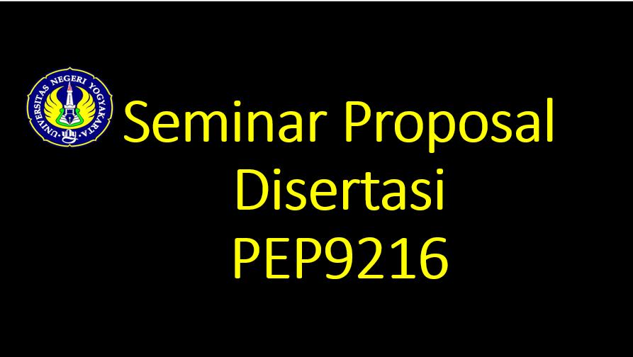 Seminar Proposal Disertasi