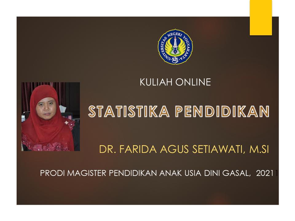 STATISTIKA PENDIDIKAN