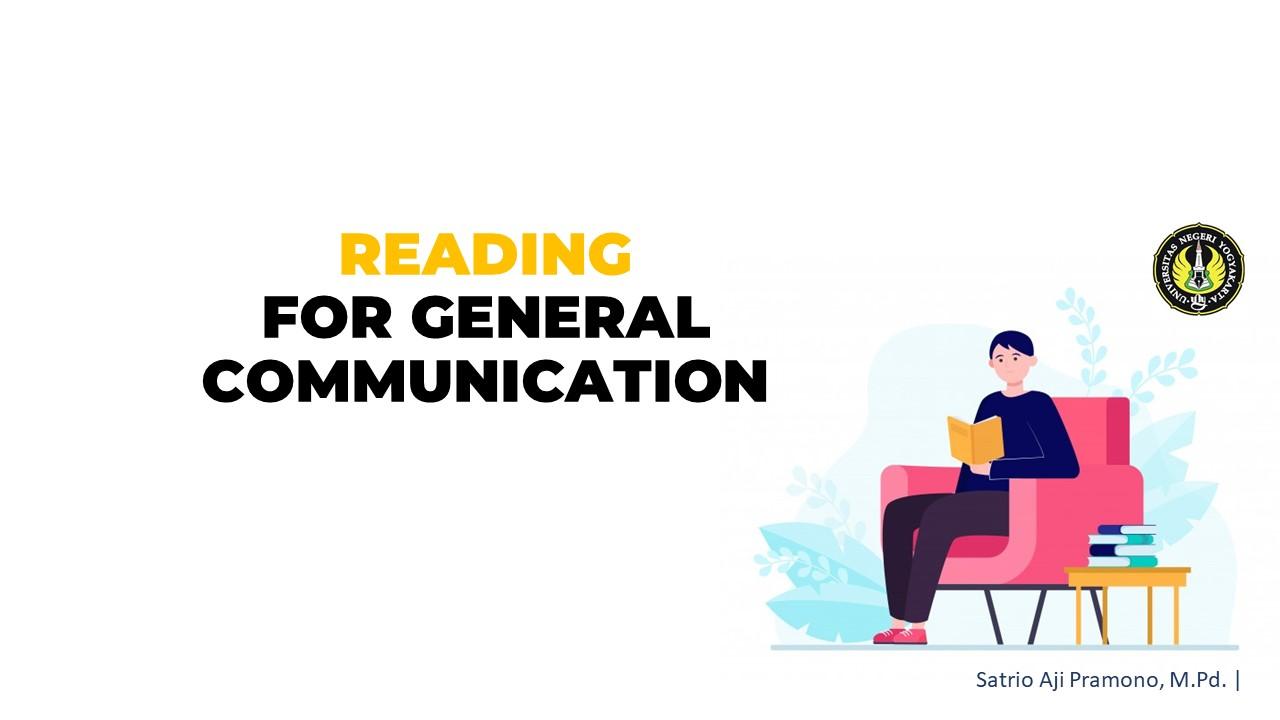 Reading for General Communication SAP (2021)