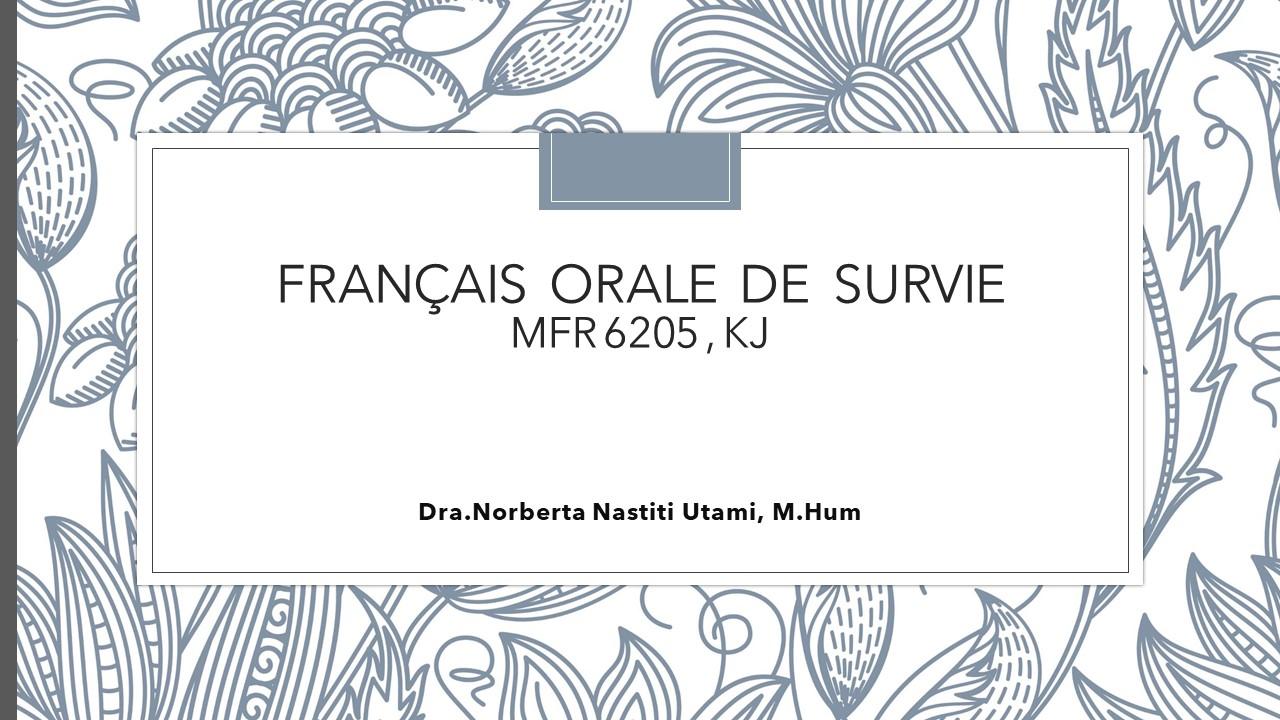 Français Orale de Survie
