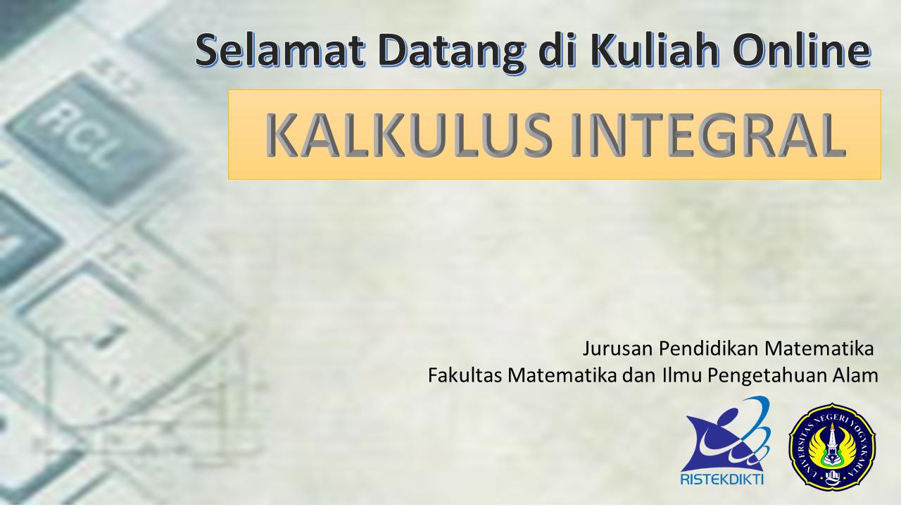 MAT6307 Kalkulus Integral