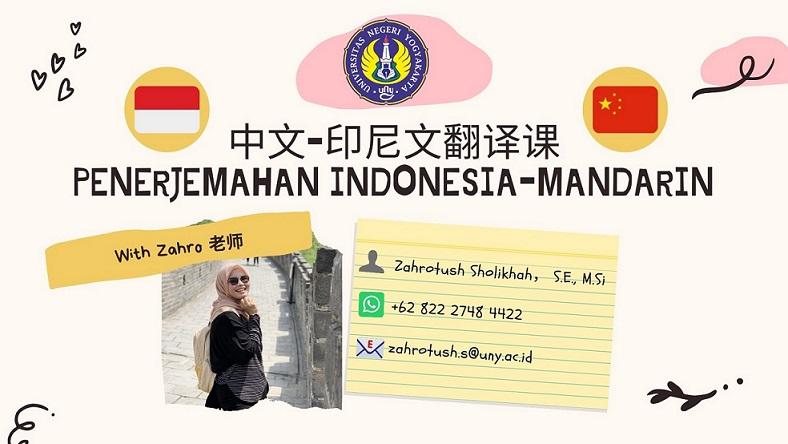 Penerjemahan Indonesia-Mandarin