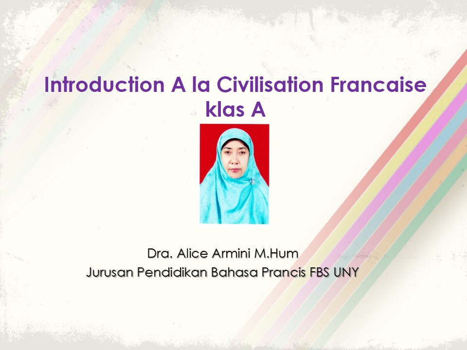 Introduction à la Civilisation Française klas A