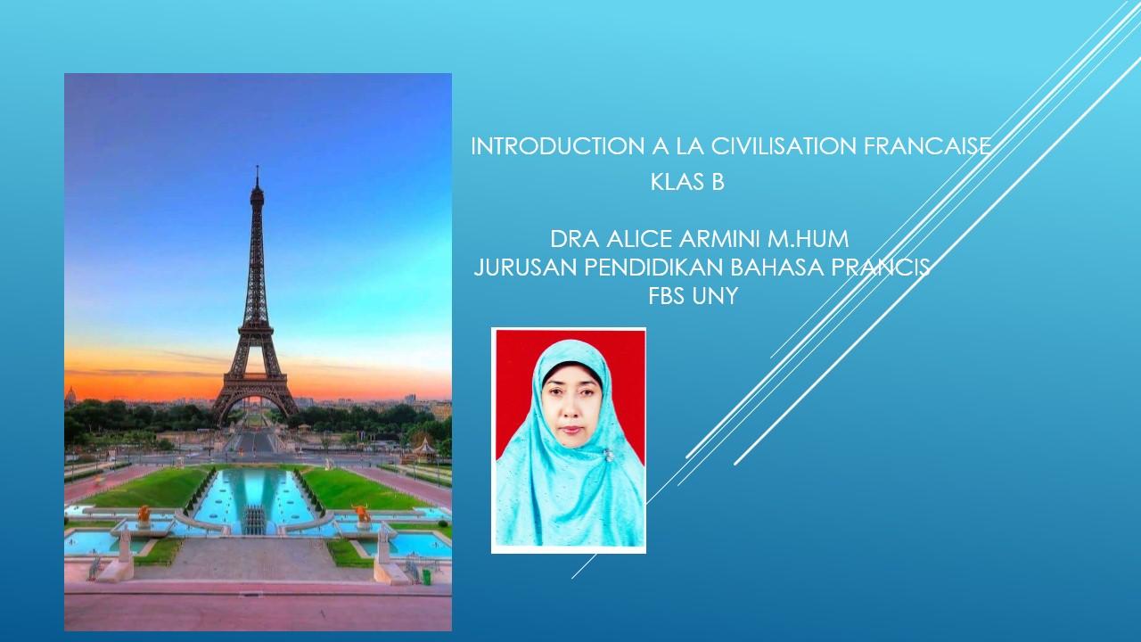 Introduction à la Civilisation Française klas B