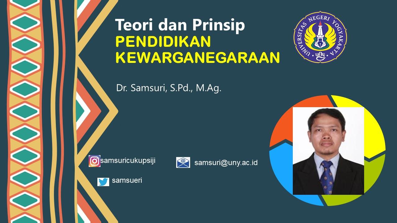 PKN8201 Teori dan Prinsip Pendidikan Kewarganegaraan