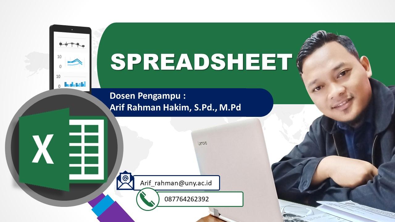 Spreadsheet (Pak ARH)