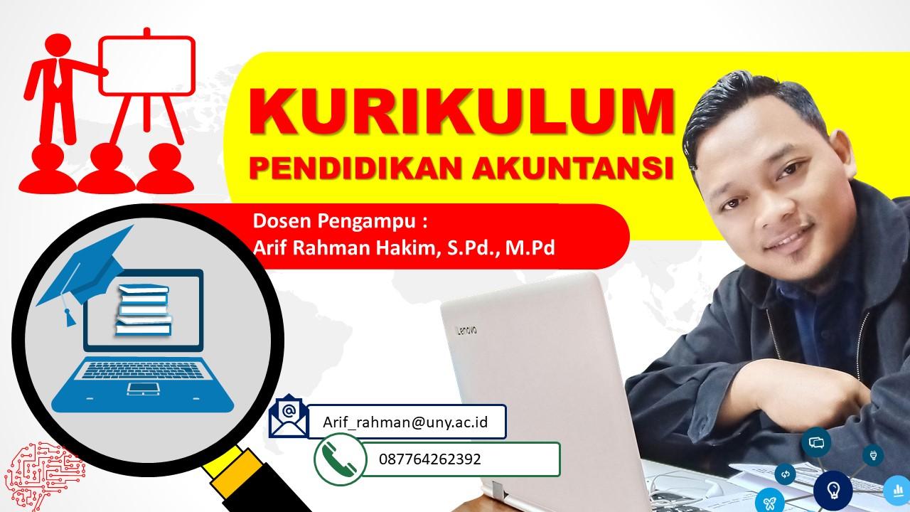 Kurikulum Pendidikan Akuntansi (Pak ARH)