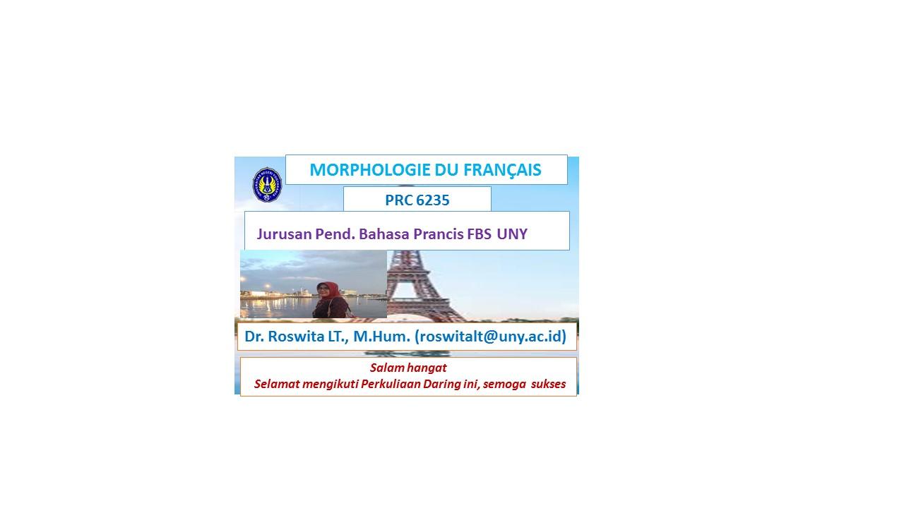 Morphologie du Français B (Roswita)
