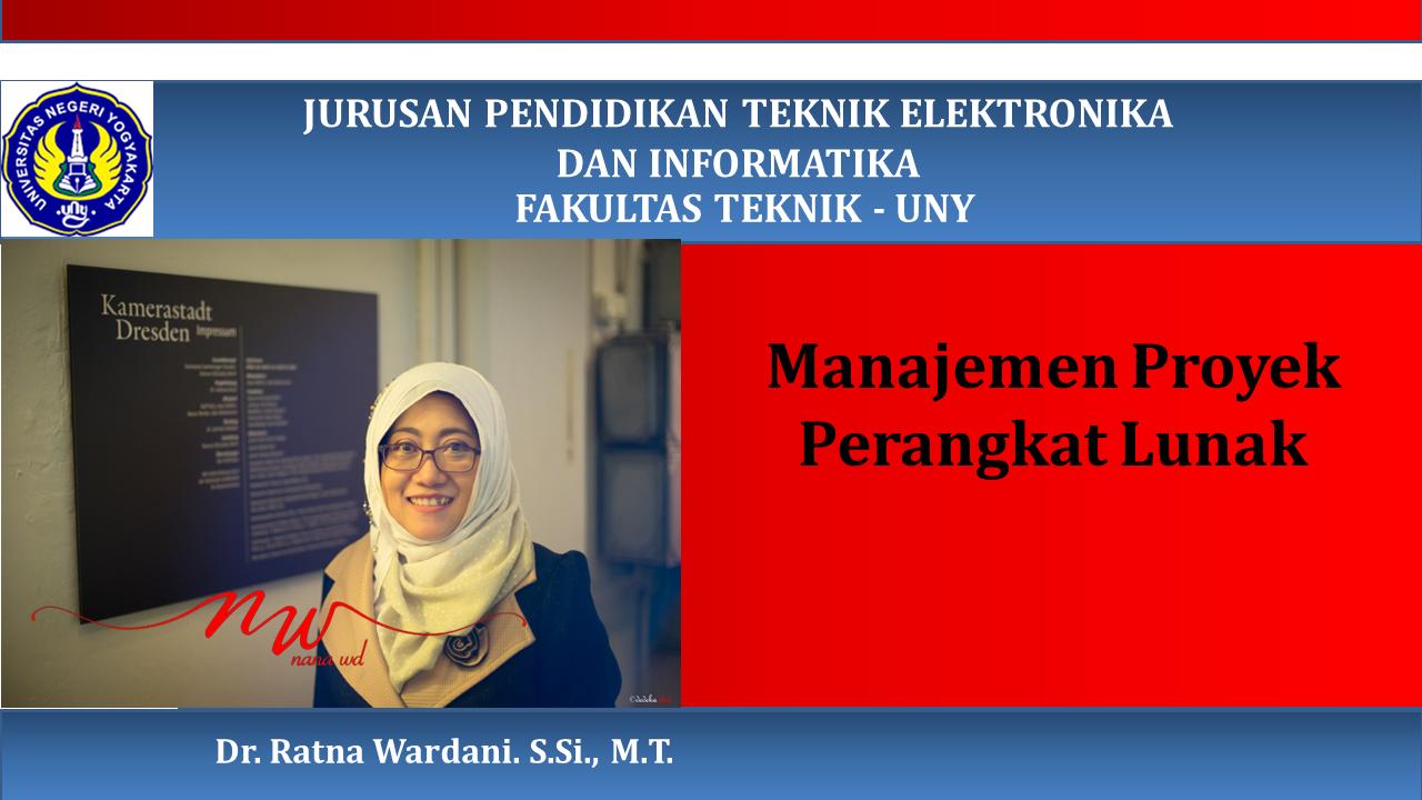 Manajemen Proyek Perangkat Lunak (PTI 8215)